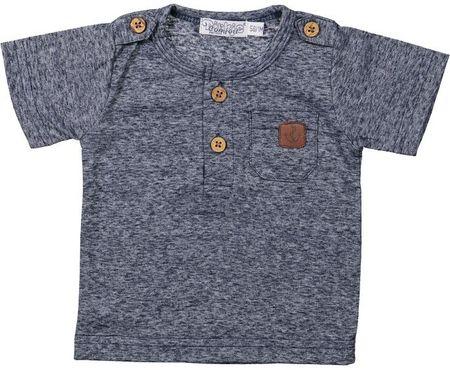 Dirkje Chlapčenské tričko s gombíkmi 62 cm - šedé