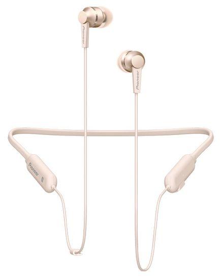 Pioneer SE-C7BT bezdrátová sluchátka, šampaň