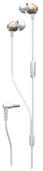 Pioneer SE-QL2T zlatá sluchátka s mikrofonem