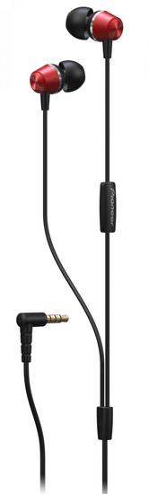 Pioneer SE-QL2T červená sluchátka s mikrofonem