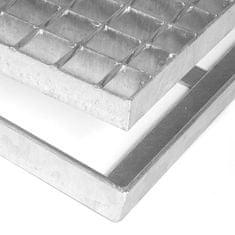 FLOMA Čistící venkovní vstupní rohož ze svařovaných podlahových roštů bez gumy s pracnami Galva - 3,5 cm