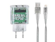 RivaCase punjač VA4125 TD2 3,4 A + podatkovni kabel Apple iPhone Lightening