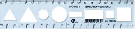 College ravnilo Noma 1 20 cm, svetlo moder