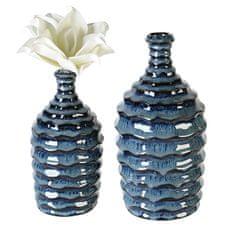 Papillon Keramická váza Foggia, 21 cm, modrá