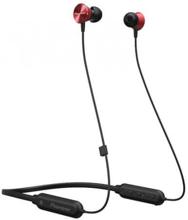 Pioneer SE-QL7BT vezeték nélküli fejhallgató, piros
