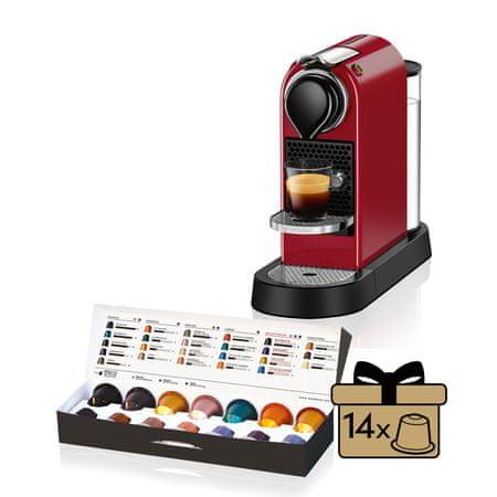 NESPRESSO ekspres kapsułkowy Krups XN740510 Nespresso Citiz Red