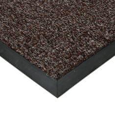 FLOMAT Tmavě hnědá textilní zátěžová čistící vnitřní vstupní rohož Catrine, FLOMAT - 1,35 cm