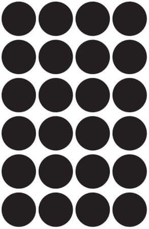 Avery Zweckform okrogle markirne nalepke 3003, 18 mm, 96 kosov, črna