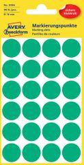 Avery Zweckform okrogle markirne nalepke 3006, 18 mm, 96 kosov, zelene