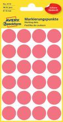 Avery Zweckform okrogle markirne etikete 3172, 18 mm, 96 kosov, neonsko rdeče