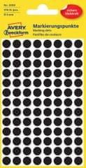 Avery Zweckform okrogle markirne etikete 3009, 8 mm, 416 kosov, črne