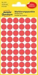 Avery Zweckform okrogle markirne nalepke 3141, 12 mm, 270 kosov, rdeče