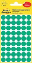 Avery Zweckform okrogle markirne etikete 3143, 12 mm, 270 kosov, zelene