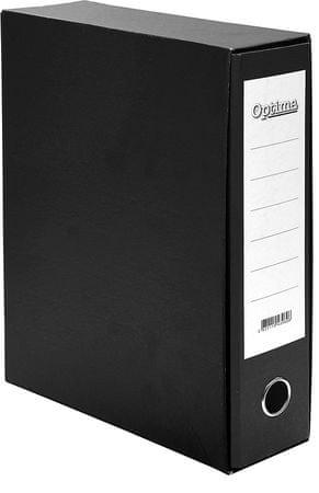 Optima registrator A4/80 Classic Box, črn