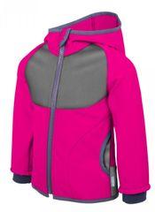 Unuo softshell jakna za djevojčice s flisom, roza