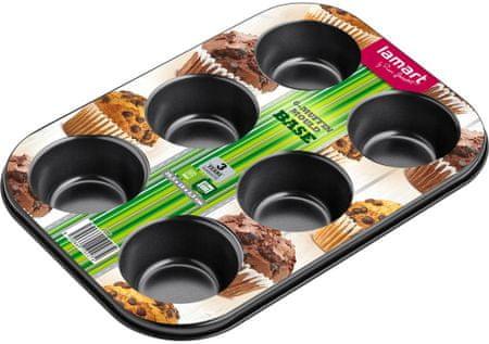 Lamart Base pekač za 6 muffinov, 26,5x18 cm LT3071