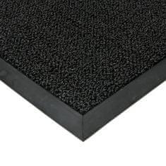 FLOMAT Černá plastová zátěžová čistící venkovní vnitřní vstupní rohož Rita, FLOMAT - 1 cm