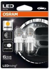 Osram Žiarovka typ P21/5W, 12V, 2/0,4W, LEDriving oranžová