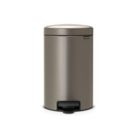 Brabantia koš za smeti, 12 L, platinum