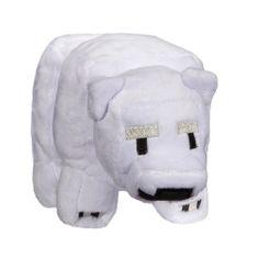 J!NX plišana igračka Minecraft Baby Polar Bear, 17,78 cm