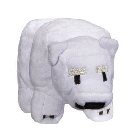 J!NX plišasta figura Minecraft Baby Polar Bear, 17,78 cm