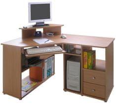 Rohový PC stůl BENSON, buk