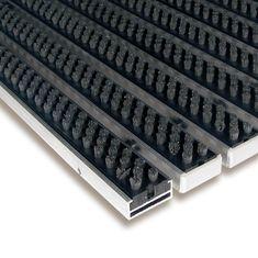 FLOMA Šedá hliníková kartáčová venkovní vstupní rohož Alu Super, FLOMA - 1,7 cm