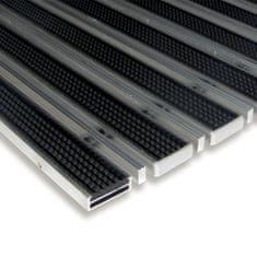 FLOMA Gumová hliníková kartáčová venkovní vstupní rohož Alu Low Extra, FLOMA - 1 cm
