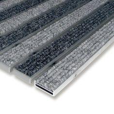 FLOMAT Textilní hliníková vnitřní vstupní rohož Alu Low, FLOMAT - 1 cm