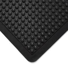 Černá gumová olejivzdorná protiúnavová průmyslová rohož (25% nitrilová pryž) - 90 x 60 x 1,4 cm