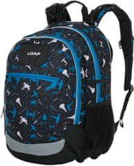 Loap Ellipse školský batoh čierny/modrý