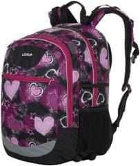 Loap Ellipse školský batoh čierna/ružová