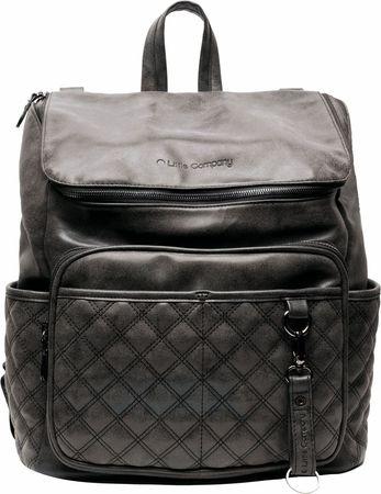 Little Company ruksak za previjanje Lisbon Quilted, crni
