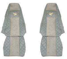 F-CORE Poťahy na sedadlá FX02, sivé