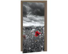 Dimex Fototapeta na dvere DL-012 Čiernobiela lúka 95 x 210 cm