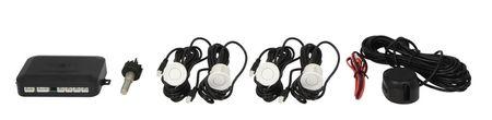 M-Tech Parkovací asistent, zadní, barva bílá, průměr senzorů 21,5 mm, akustický signál