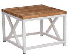 Mørtens Furniture Konferenčný stolík Kvist, 45 cm, čerešňa/biela