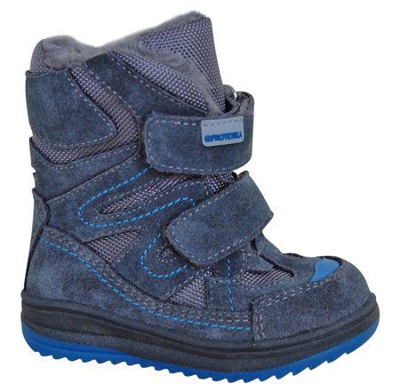 Protetika buty zimowe za kostkę chłopięce Fari 19 niebieski