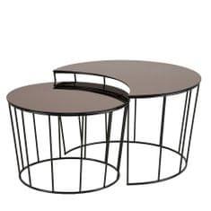 Design Scandinavia Konferenčné stolíky sklenené Solar, 2 ks