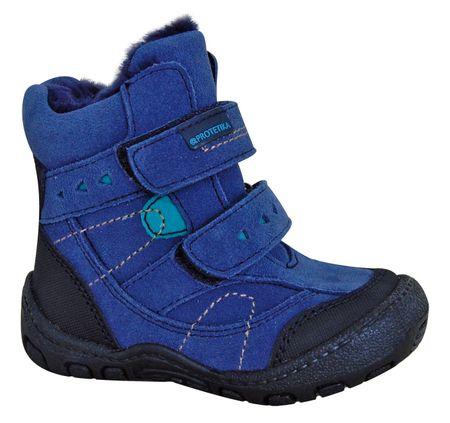 Protetika buty zimowe za kostkę chłopięce Laros 19 niebieski