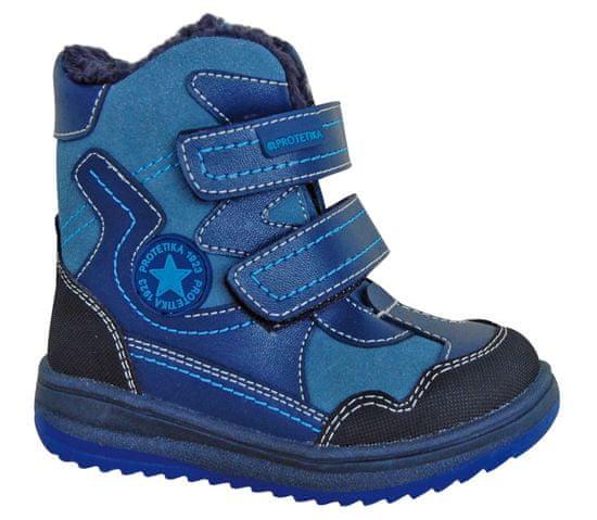 Protetika chlapecké zimní boty Riki 19 modrá