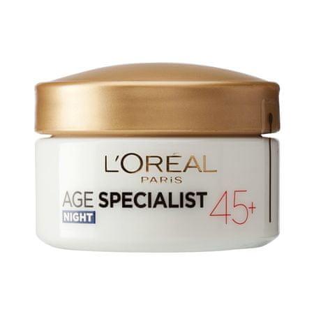 Loreal Paris nočna krema proti gubam Age Specialist Anti-wrinkle 45+, 50 ml