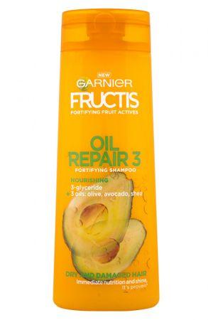 Garnier šampon za suhe in poškodovane lase Fructis Oil Repair 3, 400 ml