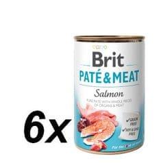 Brit karma dla psa Paté & Meat Salmon, 6 x 400 g