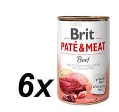 Brit karma dla psa Paté & Meat Beef 6x400g