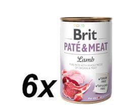 Brit karma dla psa Paté & Meat Lamb, 6x400g