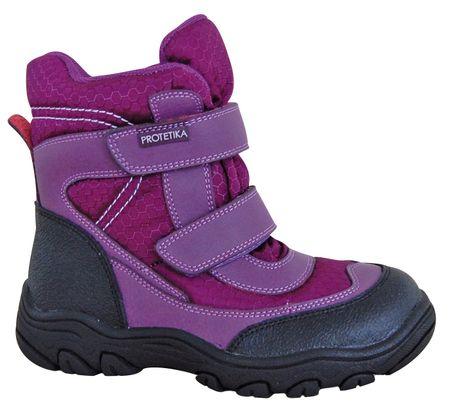 Protetika buty zimowe za kostkę dziewczęce Emika 32, fioletowy