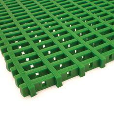 Zelená olejivzdorná protiskluzová průmyslová univerzální rohož (mřížka 22 x 10 mm) - 1,2 cm