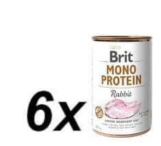 Brit karma dla psa Mono Protein Rabbit, 6x400g