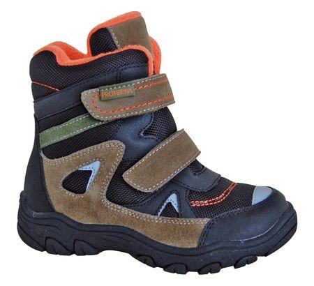 Protetika chlapecké zimní boty Zan 30 černá/hnědá